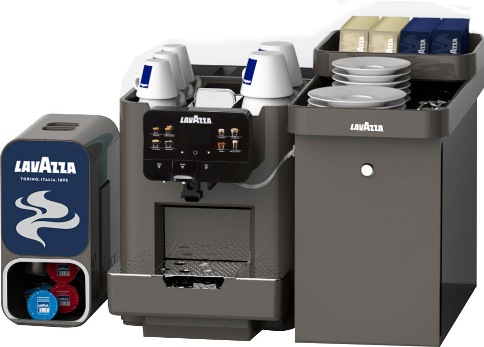 Lavazza machine and vending machine