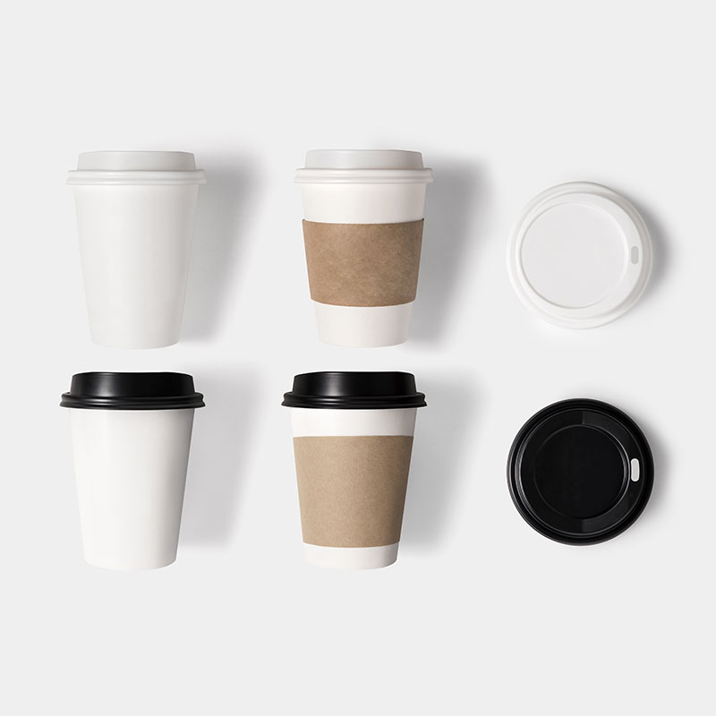 Office coffee mugs and sleeves with vending machines