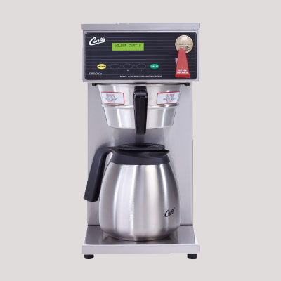 Automatic airpot coffee brewing and vending machine